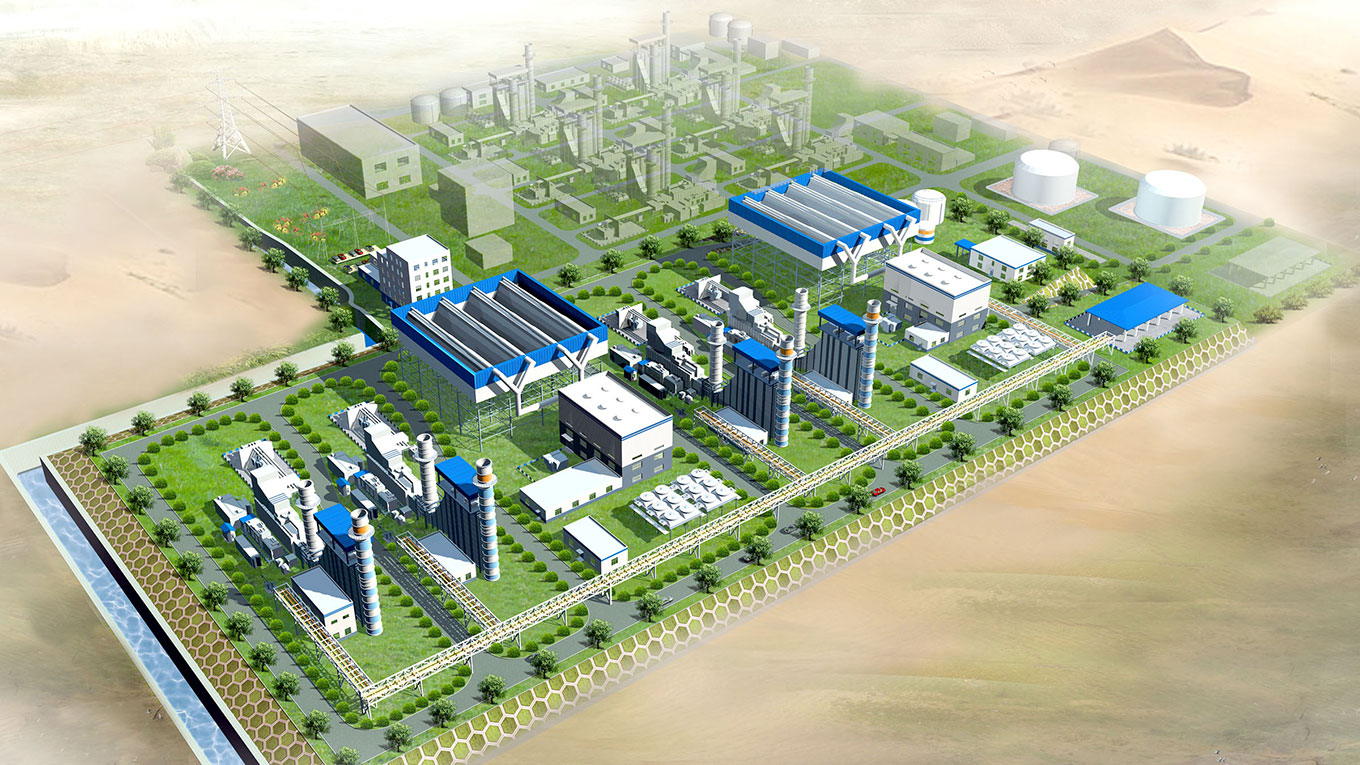 Visualisation of power plant in Salalah, Oman